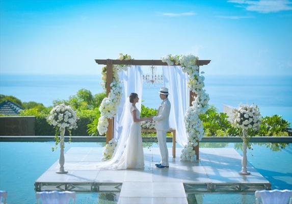 バンヤン・ツリー・ウンガサン挙式 バリ島結婚式オーシャン・ウェディング