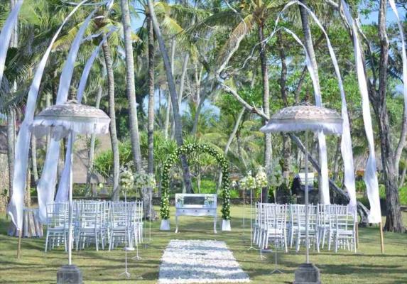 バリ島挙式 ジ・オベロイ・バリ結婚式 ガーデン・ウェディング