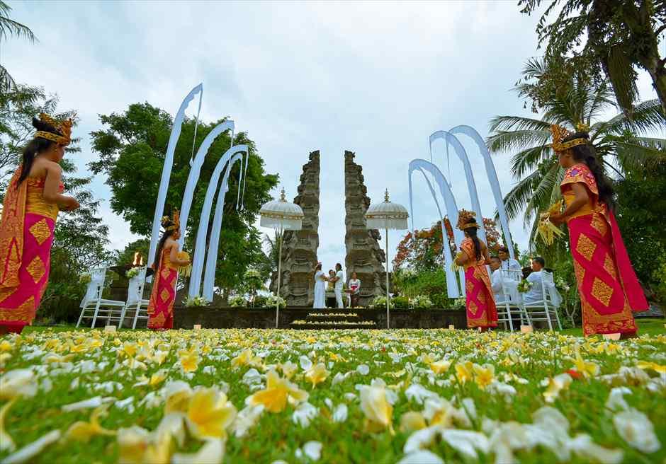 ザ・チェディ・クラブ ガーデン挙式 バリ島結婚式ウブド・ウェディング