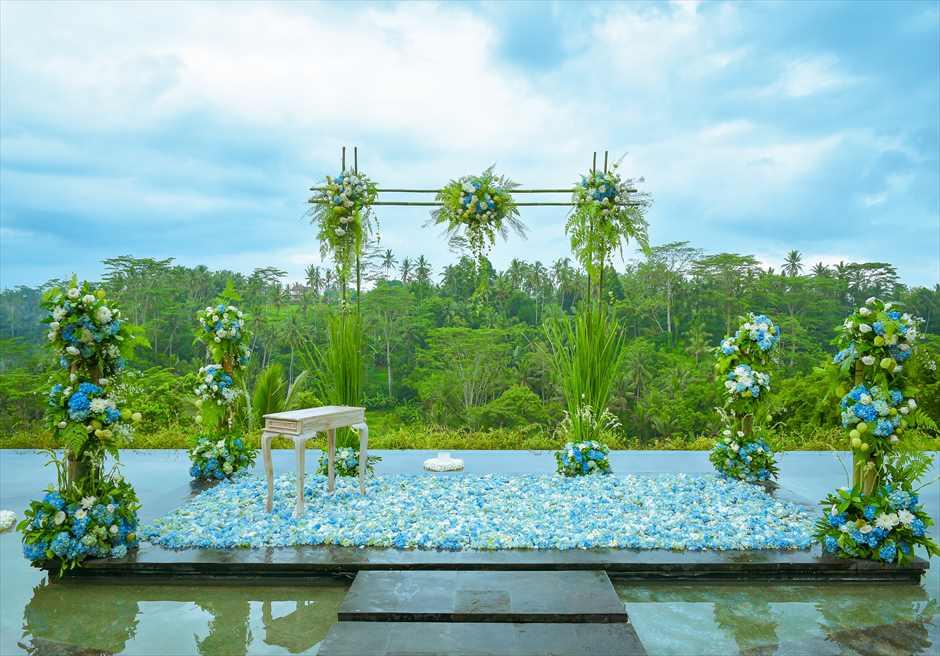 ジャンナタ・ウブド 水上挙式 バリ島ウブド・ウェディング