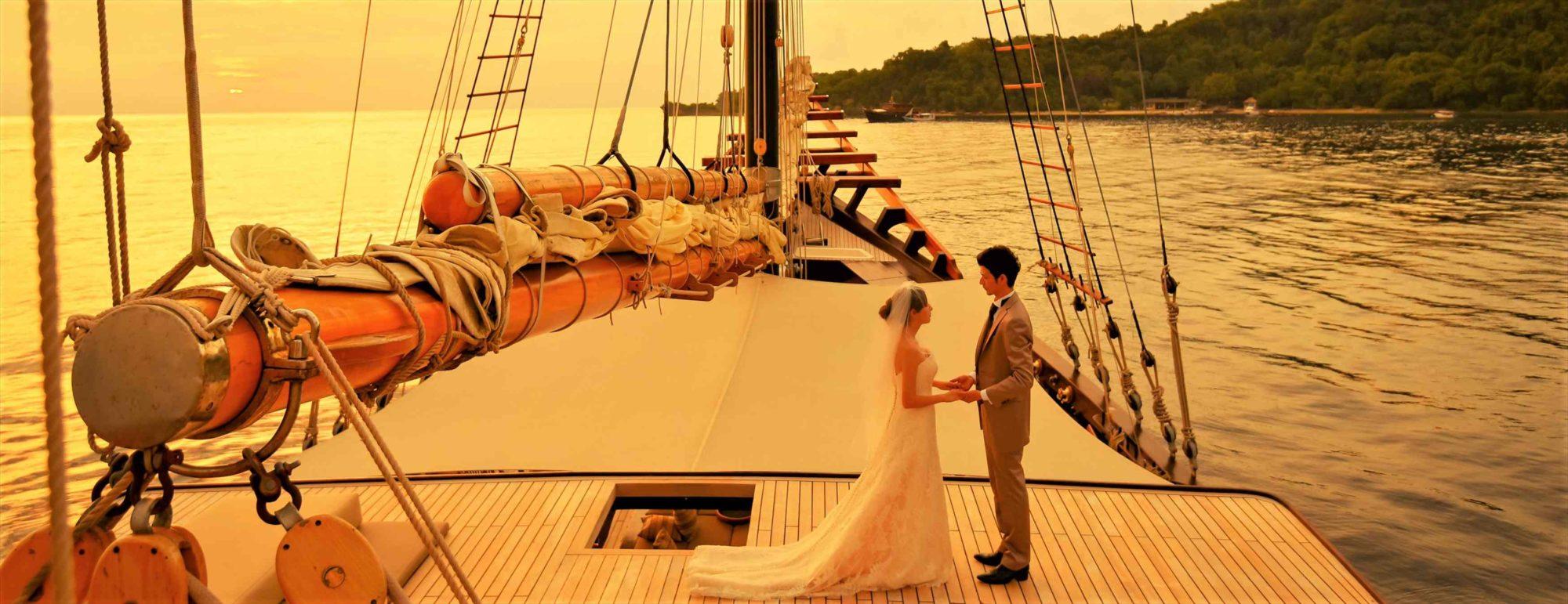 バリ島船上ウェディング Amandira & Amanwana アマンディラ&アマンワナ挙式