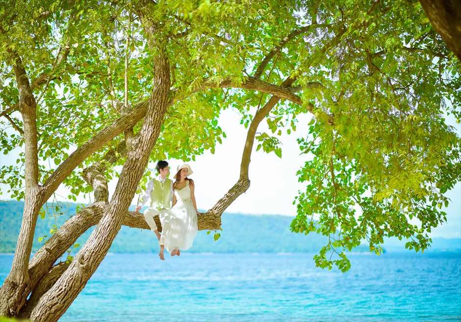 モヨ島ビーチ・ウェディング/ Amanwana Beach Wedding/ アマンワナ/ビーチ挙式