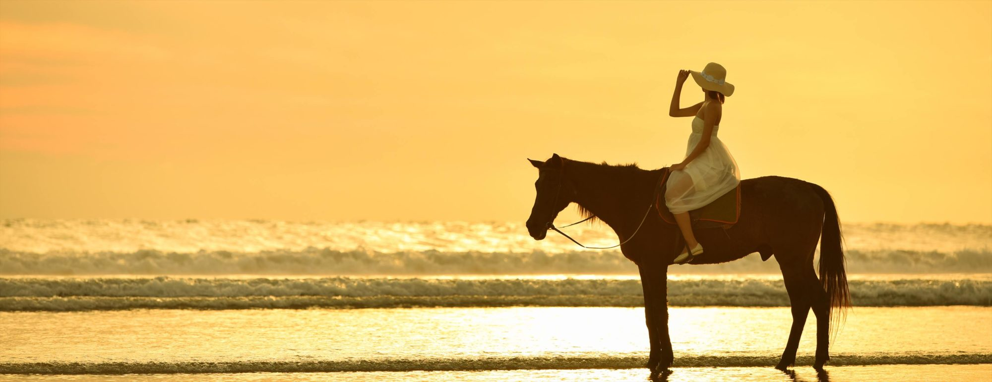 バリ島サンセット・フォトウェディング スミニャック・ビーチ・ホース・ライディング Sunset Horse Riding Sunset Photo Wedding
