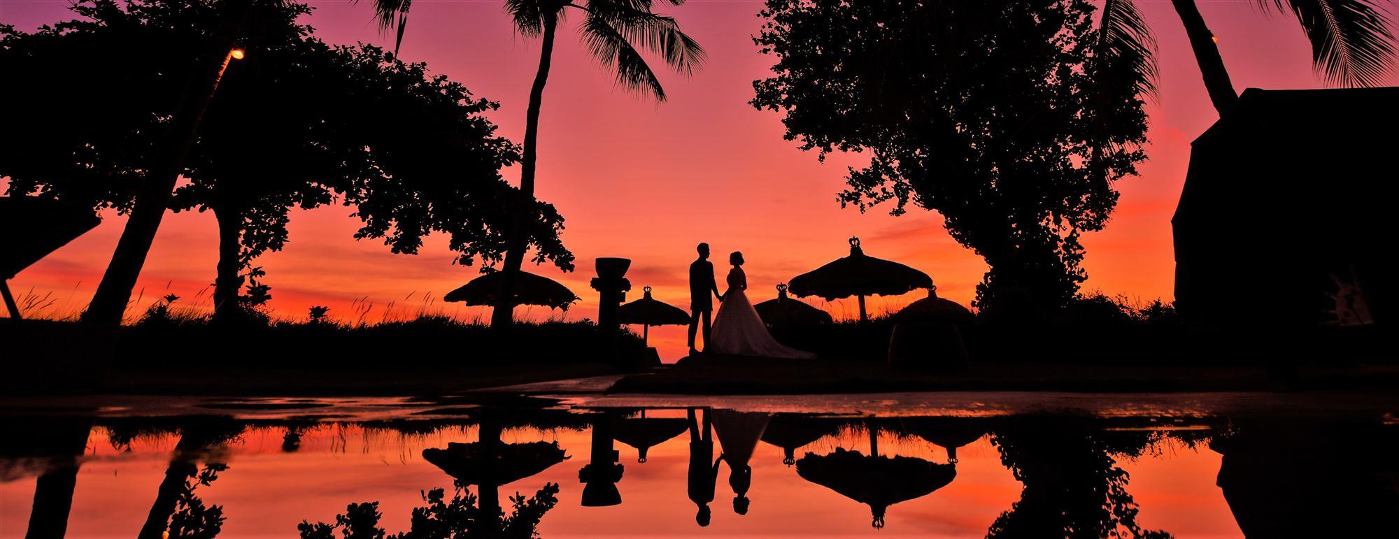 バリ島サンセット・ビーチ・フォトウェディング ジンバラン・ビーチ・サンセット Belmond Jimbara Puri Bali Sunset Photo Wedding