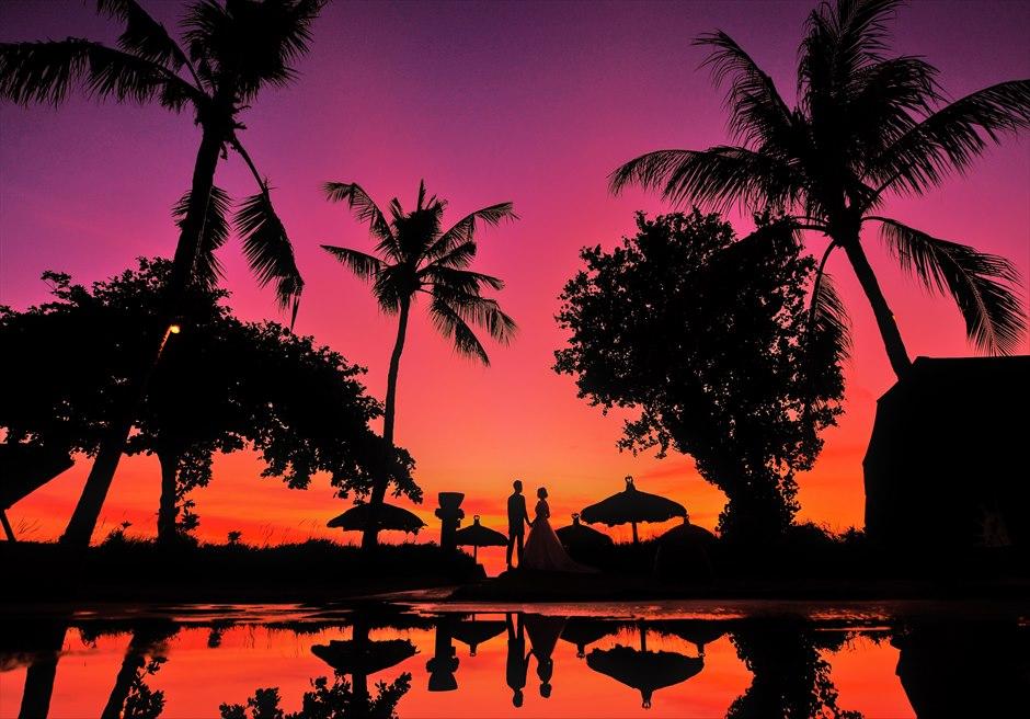 バリ島サンセット・ビーチ・フォトウェディング/ Belmond Jimbara Puri Bali Sunset Photo Wedding/ ジンバラン・ビーチ・サンセット