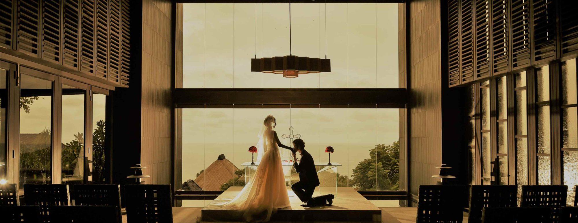 バリ島チャペル・ウェディング ブルガリ リゾート バリ チャペル挙式 Bvlgari Resort Bali Chapel Wedding