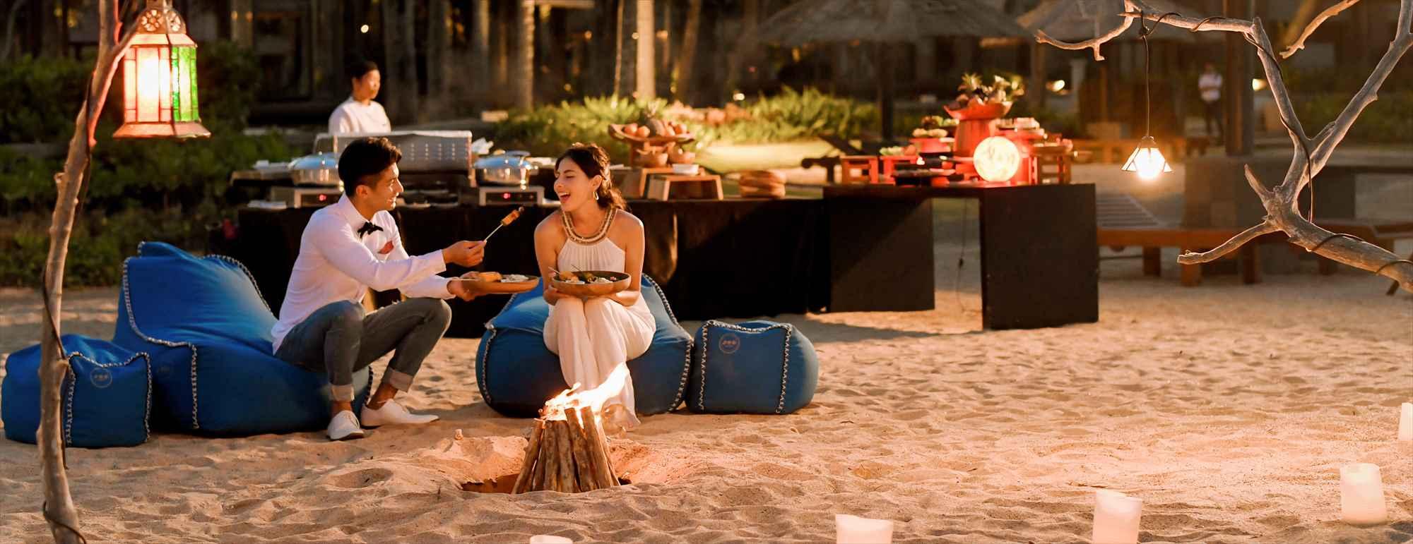 バリ島ビーチ・ロマンティックディナー Conrad Bali Beach Romantic Dinner BBQ コンラッド・バリ ビーチBBQディナー