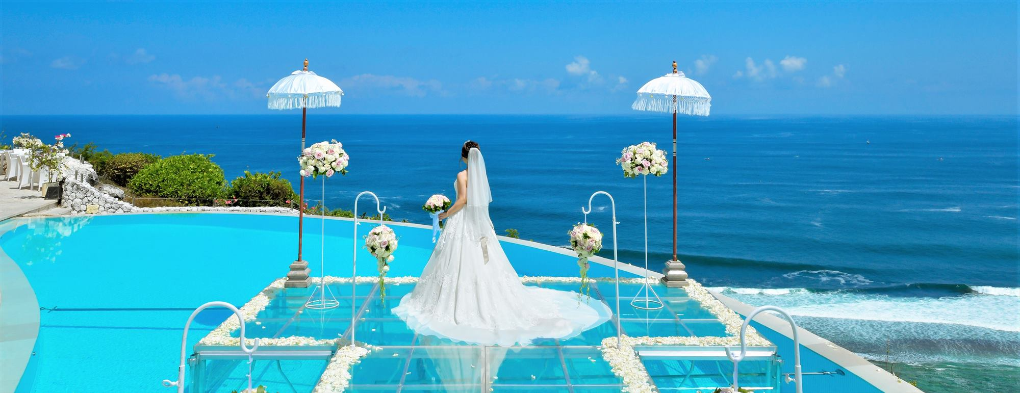 バリ島オーシャン・ウェディング カルマ・カンダラ ウォーター挙式 Karma Kandara Water Wedding