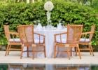 アマンキラ・ビーチクラブ ウェディング・パーティー ラウンド・テーブル装飾一例