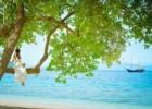 バリ島 ウェディング リゾートドレス 花冠