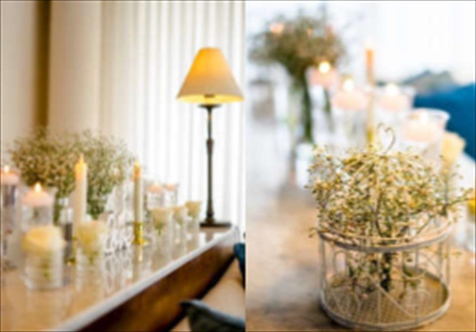 サマベ・バリ・スイート&ヴィラズ<br /> オーシャンフロント・ヴィラウェディング<br /> ヴィラ客室内ウェディング特別装飾