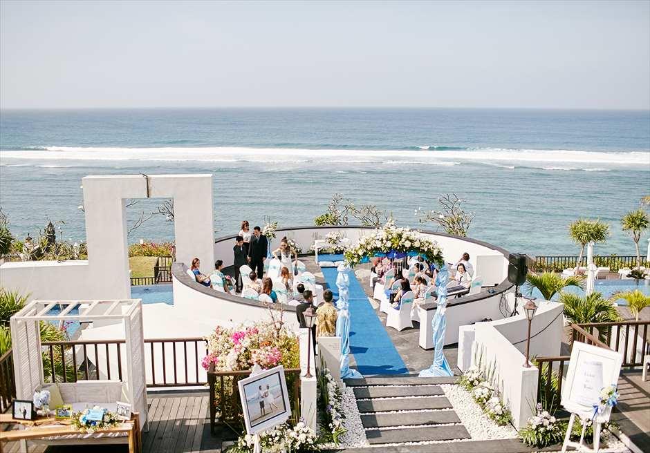 サマベ・バリ結婚式 リング・オブ・ファイアー・ウェディング 挙式シーン