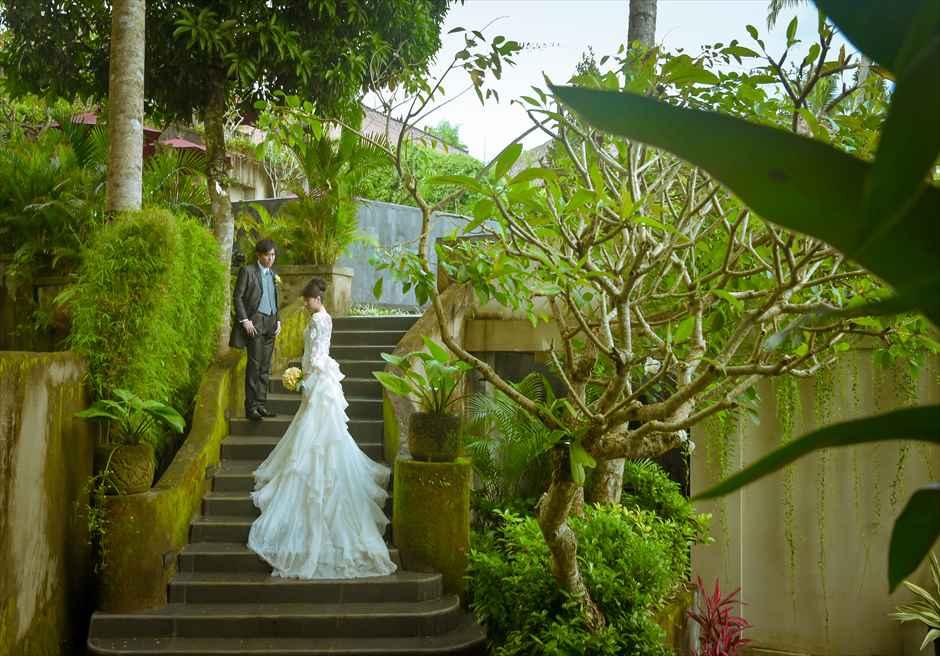 ジャンナタ・リゾート・ウブド・バリリゾート内ガーデンにてフォトウェディング