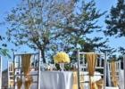 ザ・シャンティ・レジデンス・ヌサドゥア プールデッキ・ウェディング・レセプション バリニーズ・デザイン チェア装飾