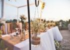 ザ・シャンティ・レジデンス・ヌサドゥア プールデッキ・ウェディング・レセプション ラスティック・デザイン 会場装飾