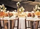 ザ・シャンティ・レジデンス・ヌサドゥア プールデッキ・ウェディング・レセプション ラスティック・デザイン テーブル装飾
