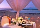 カユマニス・ヌサドゥア ビーチ・テント ロマンティックディナー・テーブル装飾