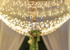 カユマニス・ヌサドゥア ビーチ テント・パーティー会場装飾ピーチ ハンギング・ライト