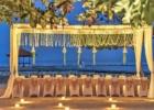 カユマニス・ヌサドゥア ビーチ テント・パーティー会場装飾ピーチ フェアリーライト