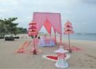 カユマニス・ヌサドゥア ビーチ テント・パーティー会場装飾 ピンク