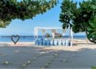 カユマニス・ヌサドゥア ビーチ テント・パーティー会場装飾 ブルー