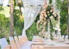 カユマニス・ヌサドゥア グリーン・パティオ・ガーデン テント・パーティー会場装飾 ピーチ アップグレード