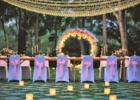 カユマニス・ヌサドゥア グリーン・パティオ・ガーデン サークルアーチ・テーブル装飾 パウダーピンク