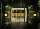 カユマニス・ヌサドゥア グリーン・パティオ・ガーデン テント・パーティー会場装飾 ピーチ ライティング