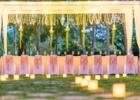 カユマニス・ヌサドゥア グリーン・パティオ・ガーデン テント・パーティー会場装飾 ピーチ フェアリーライト