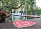 カユマニス・ヌサドゥア プールサイド テント・パーティー会場装飾 ブルー全景