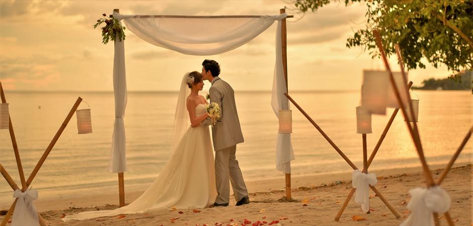 Ocean Tent Beachfront Wedding