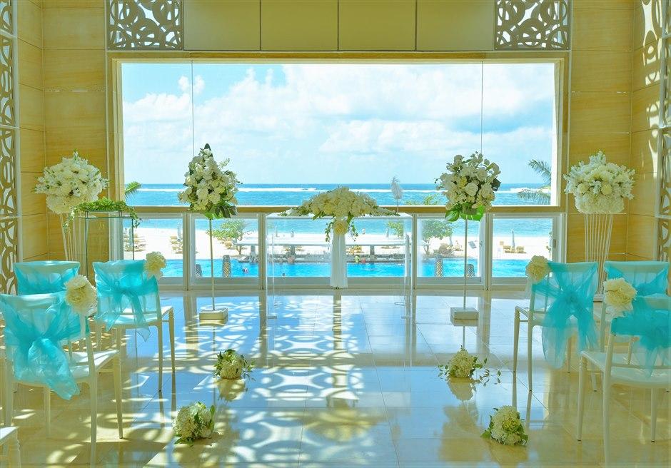 ザ・ムリア・バリ ハーモニー・チャペル・ウェディング フローラル 祭壇生花装飾