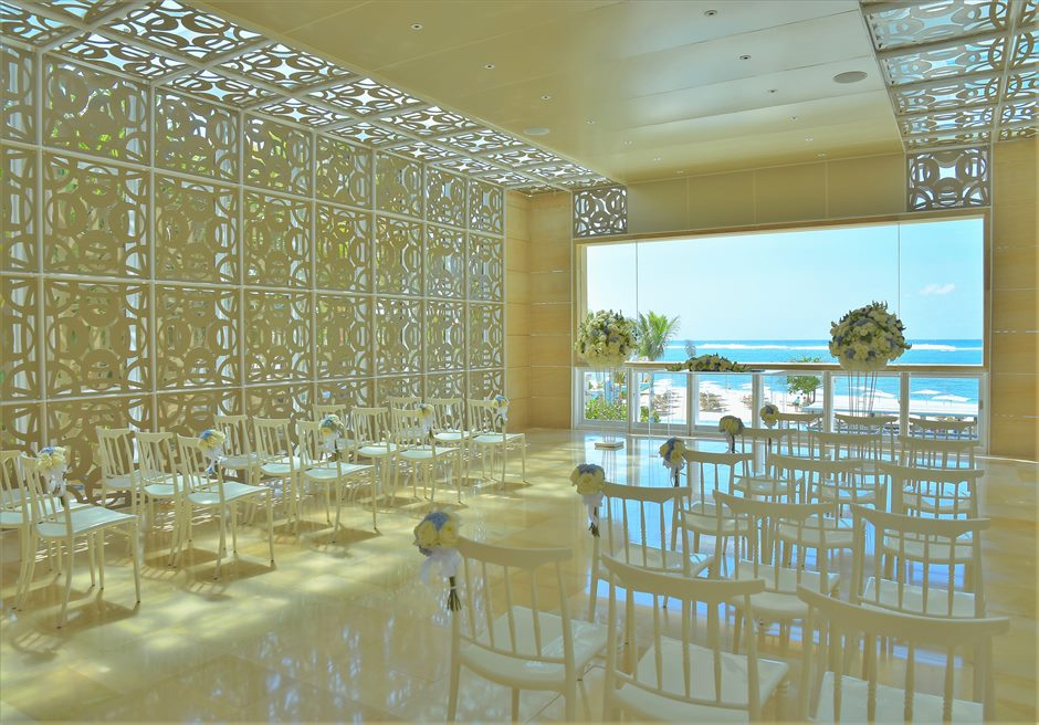 ザ・ムリア・バリ ハーモニー・チャペル・ウェディング ブルー&ホワイト基本装飾 挙式会場