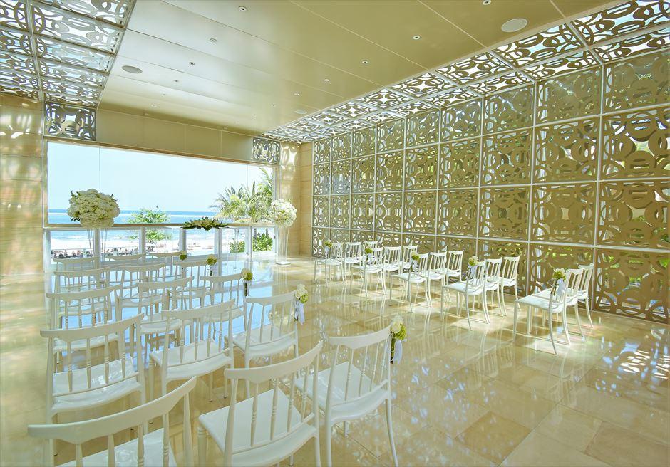 ザ・ムリア・バリ ハーモニー・チャペル・ウェディング グリーン&ホワイト基本装飾 挙式会場