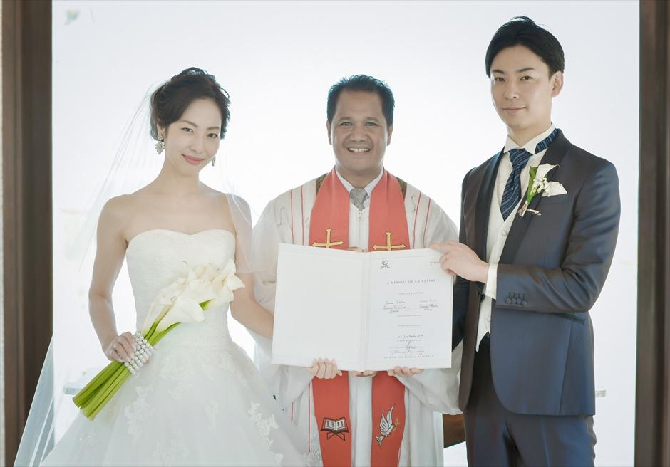 セント・レジス・バリ クラウド・ナイン・チャペル・ウェディング 結婚証明書