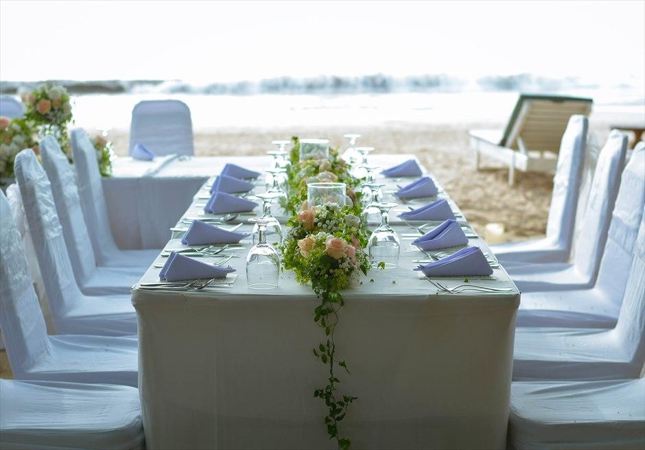 クラトン ビーチ パーティー テーブル装飾