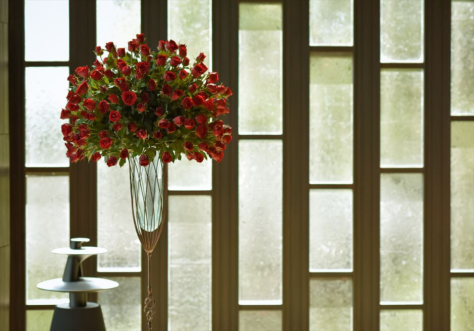ブルガリ基本装飾レッド ウォールフラワー