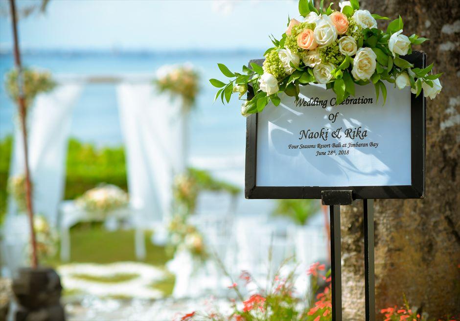 フォーシーズンズ・バリ・ジンバラン ウェルカムボード結婚式・挙式・ウェディング