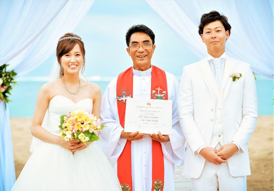 マ・ジョリー ビーチウェディング結婚証明書