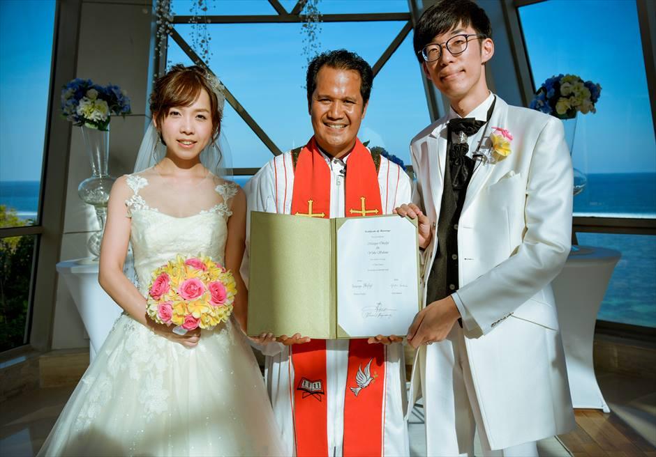 サマベ・バリ パール・チャペル ウェディング 結婚証明書