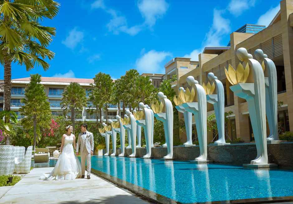 ムリア・バリ フォトウェディング プール挙式前撮り撮影
