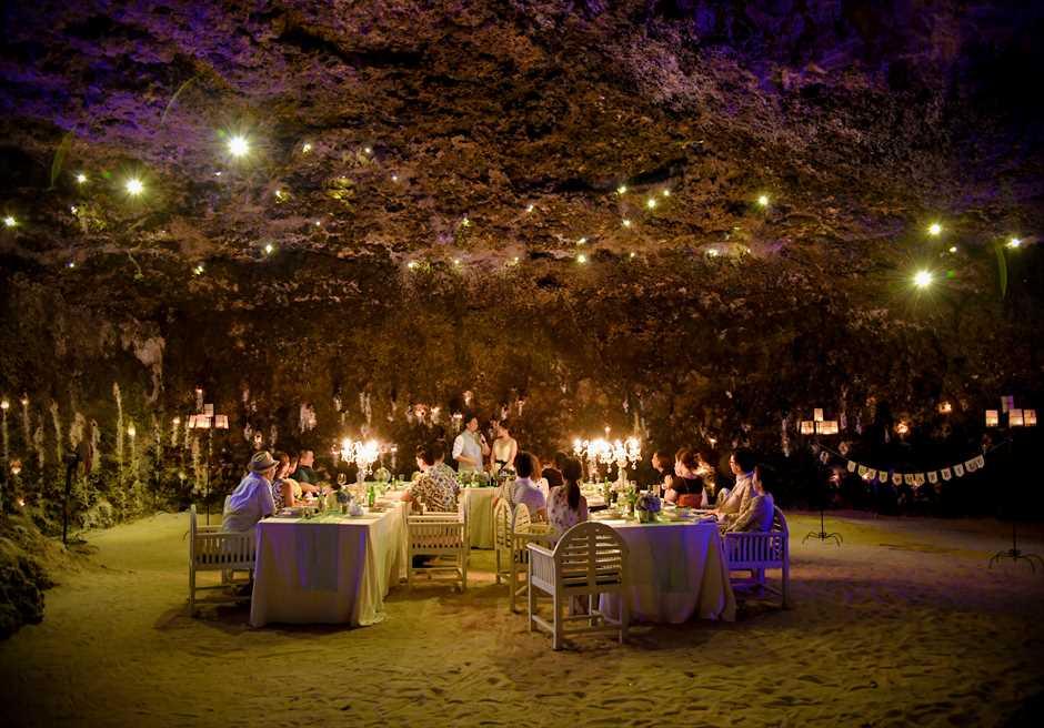 サマベ・バリ 大ケーブ洞窟ディナー ウェディングパーティー