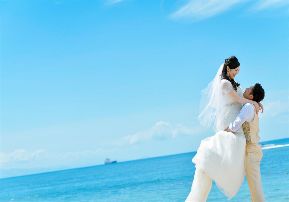 コンラッド・バリ 真っ青な海と空 フォトウェデイング