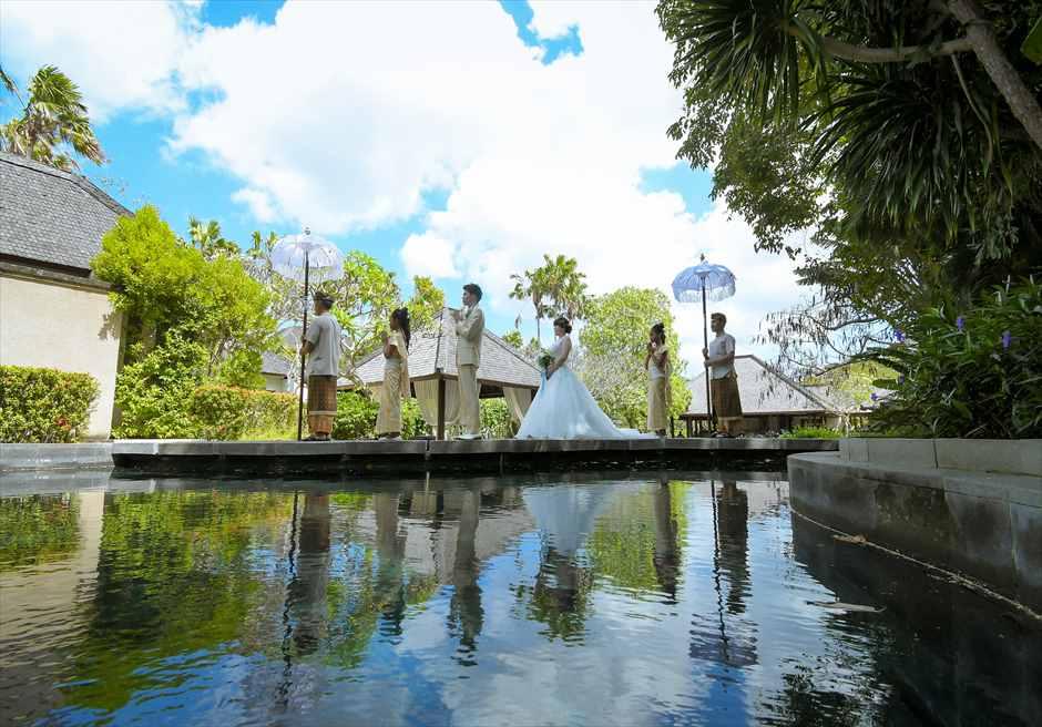 ヴィラ・アイル・バリ ヴィラ・ウェディング<br>バリ島ビーチ・フォト・ウェディング|7月 挙式 T.K.様&T.M.様