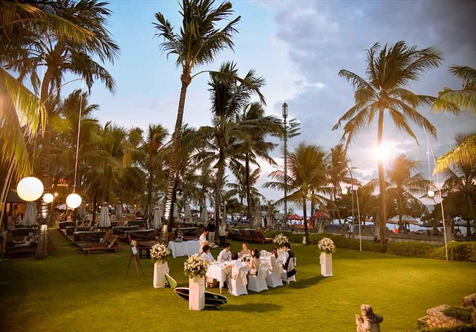 バリ・マンディラ・ビーチ・リゾート<br>ガーデンウェディング 挙式&パーティー|5月 挙式 H.K.様&H.M.様