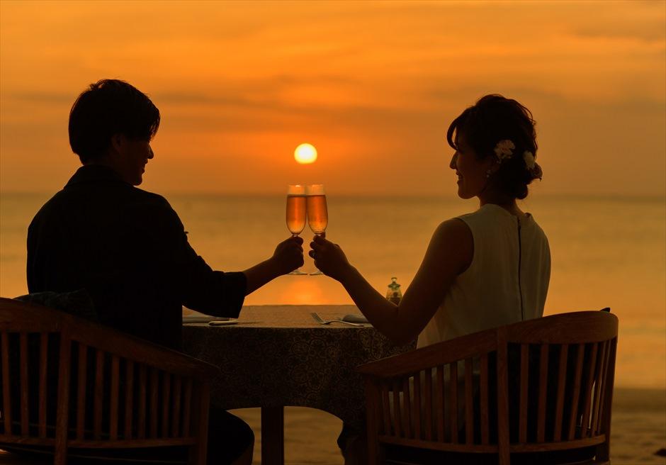 ベルモンド・ジンバラン・ウェディング<br>ビーチウェディング&ロマンティックディナー|5月 挙式 M.Y.様&M.K.様
