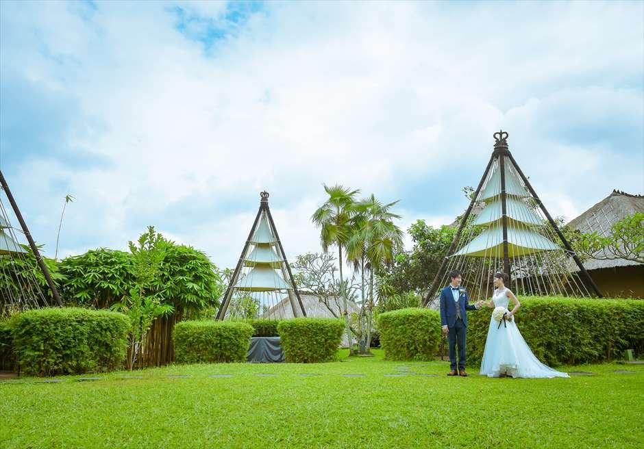 カマンダル・ウブド ガーデンにて挙式前撮影