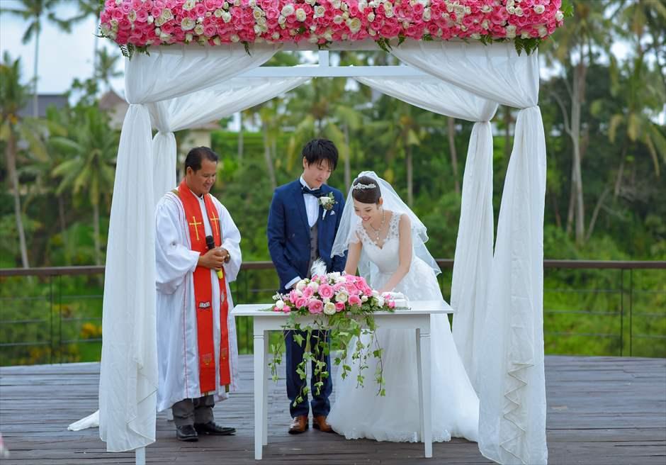 カマンダル・ウブド挙式 結婚証明書