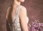 背中あきドレス ウェディングドレス レース きれいめドレス