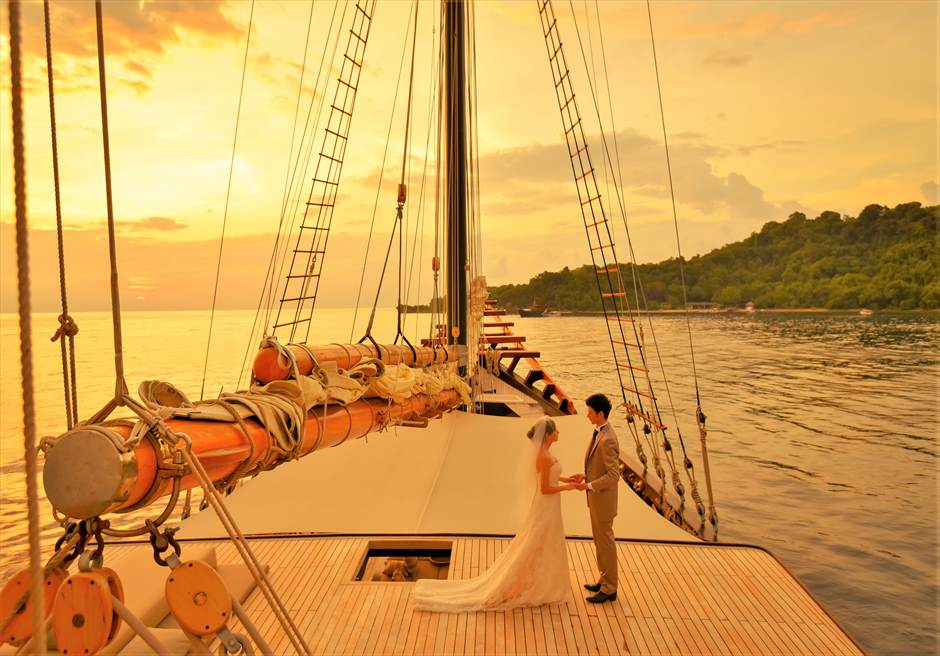 アマンディラ挙式 船上ウェディング